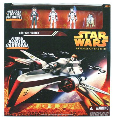 Revenge Of The Sith Vehicle Boxed Arc 170 Fighter C 7 8 Star Wars Ahsoka Star Wars Toys Star Wars Merchandise