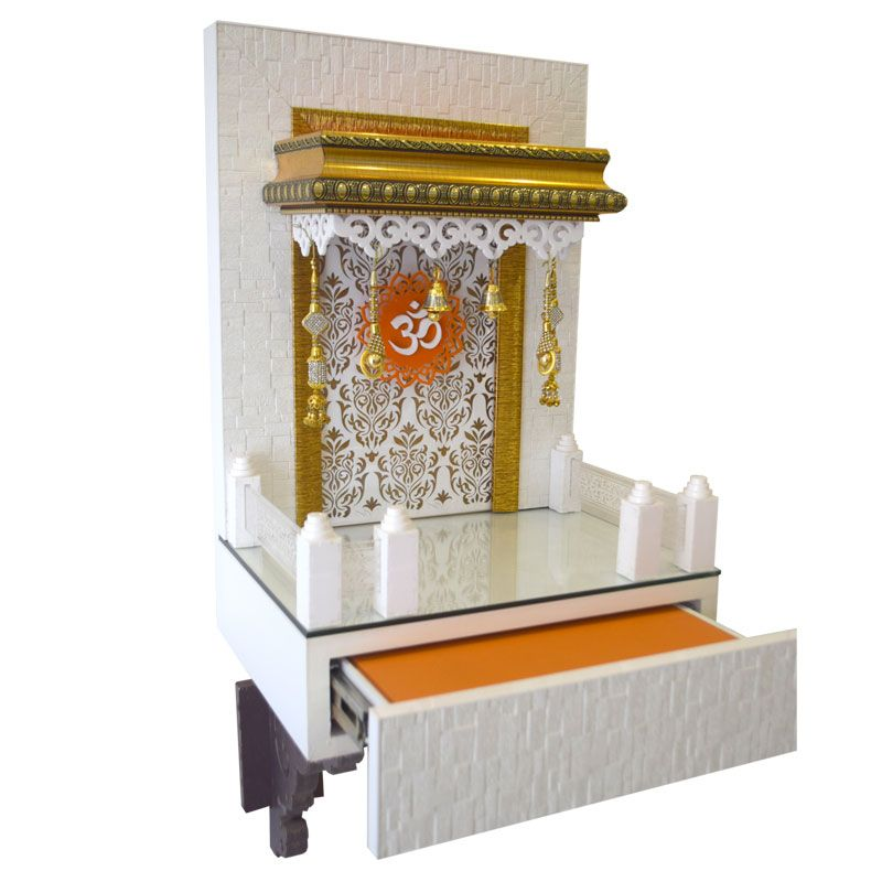 Contemporaray Wooden Mandir Wooden Puja Ghar for Home & Office ...