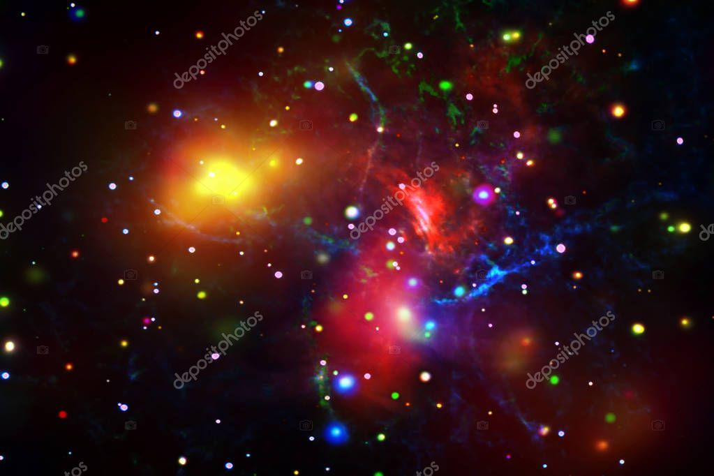 Star cluster and galaxy The elements of this image furnished by  Stock
