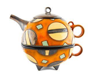 Ceramic tea for one set Ceramic teapot glass teapot by ASTpottery