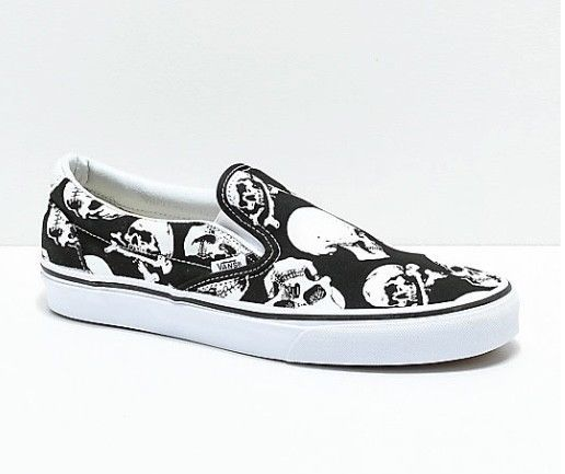 Vans Slip On Skull Black and White Skate Shoes Mens 10.0 Womens 11.5   fashion  clothing  shoes  accessories  unisexclothingshoesaccs   unisexadultshoes (ebay ... 883e679d27