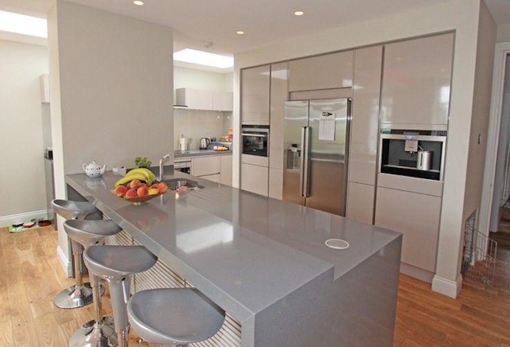 Gloss kitchen island design Kitchenns in 2018 Pinterest