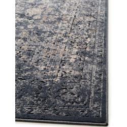 benuta Teppich Yara Grau/Blau 200x290 cm - Vintage Teppich im Used-Look benuta