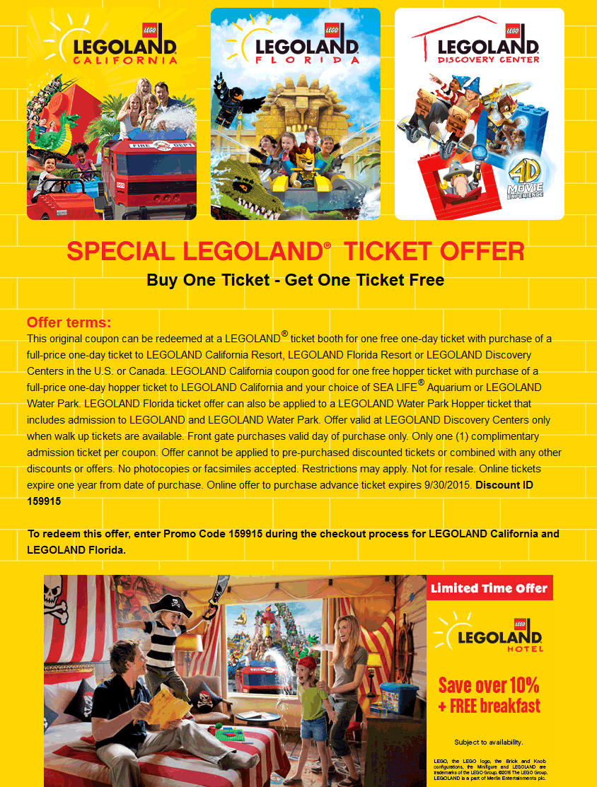 Pinned June St Second Ticket Free To Legoland Or Online Via