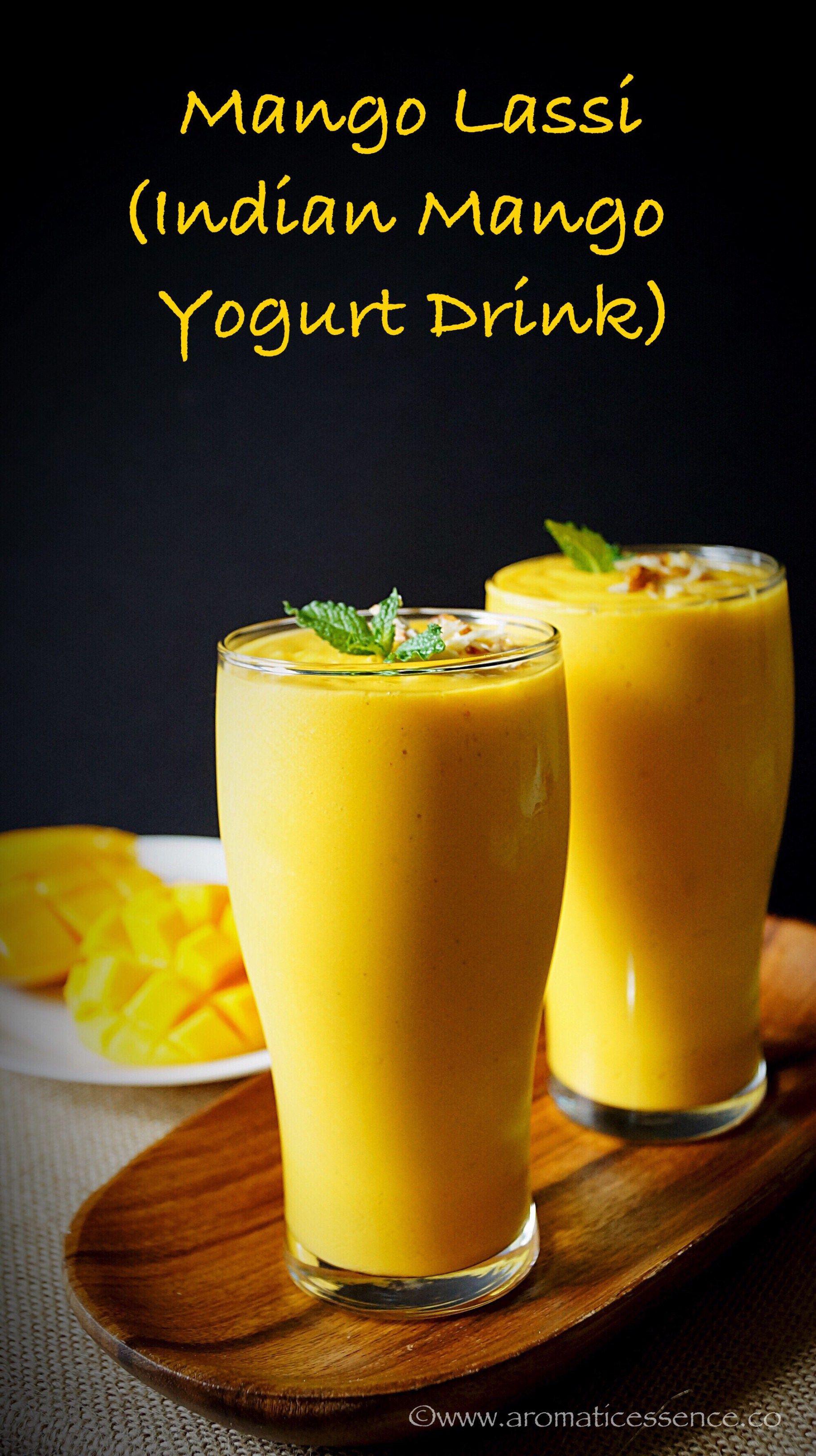 Mango Lassi Recipe (Using Mango Pulp)  How To Make Mango Lassi