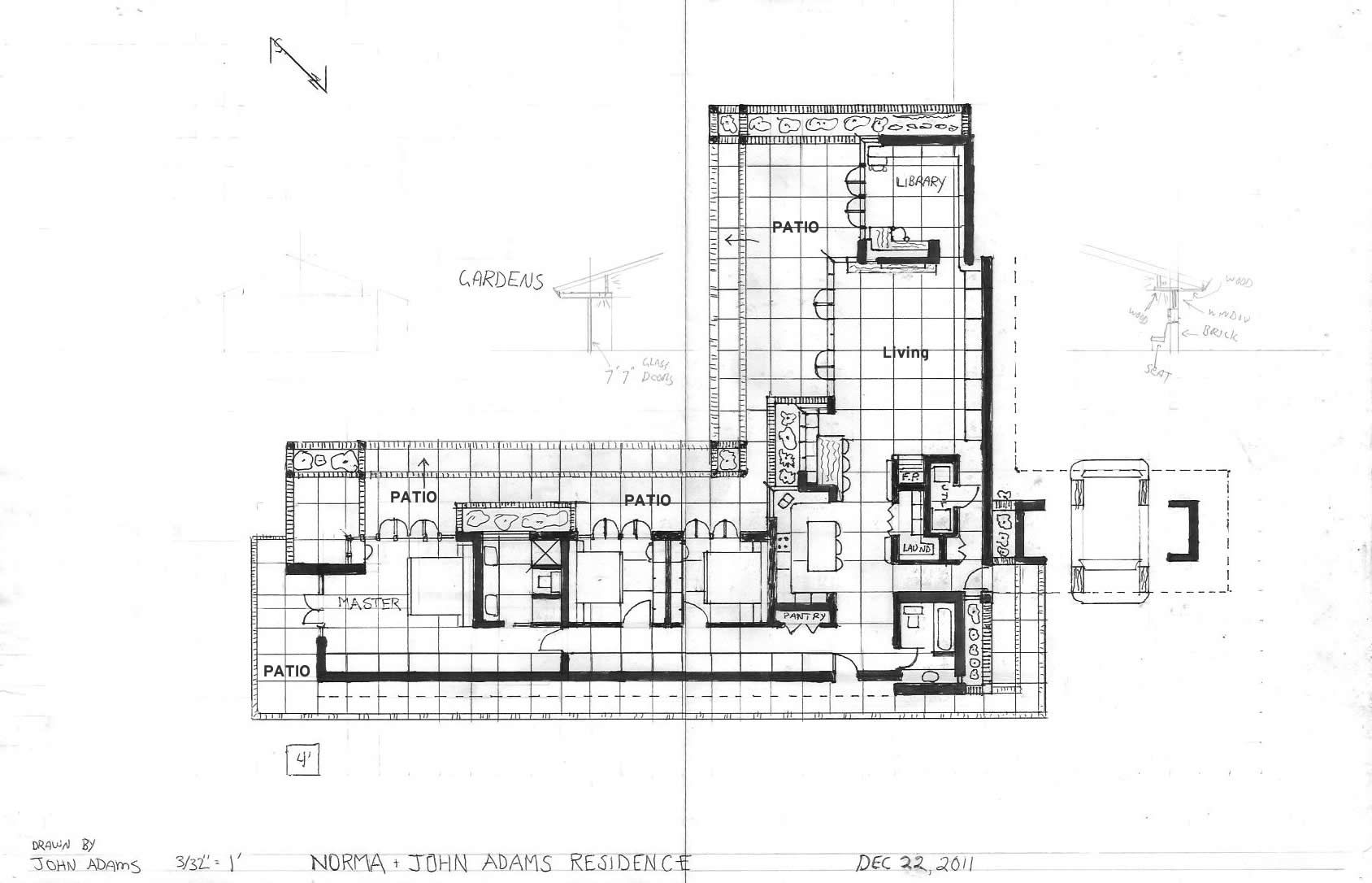 Plan houses design frank lloyd wright pesquisa google for Frank lloyd wright usonian home plans