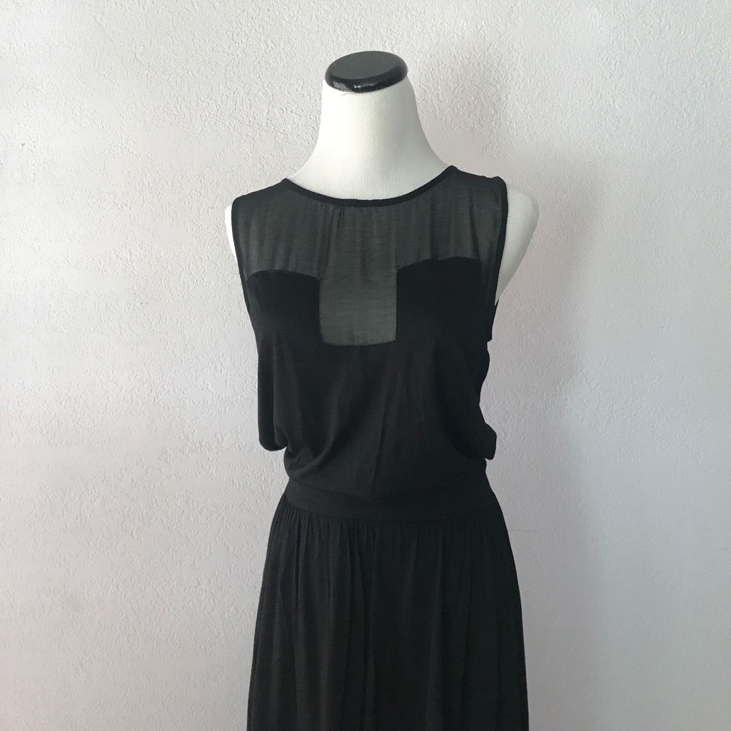 Long black mesh maxi dress by mng black mesh and products