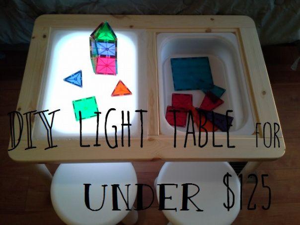 DIY table lumineuse ikea FLISAT