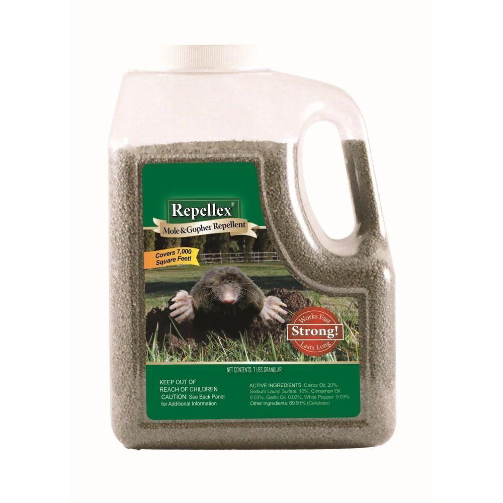 Repellex 7 Lb Granular Mole Vole And Gopher Repellent 10530 Mole Pest Control Active Ingredient