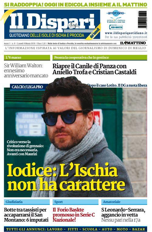 La copertina del 09 marzo 2015 #ischia #ildispari
