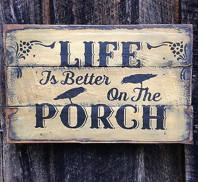 Primitive Sign Rustic Country Home Decor