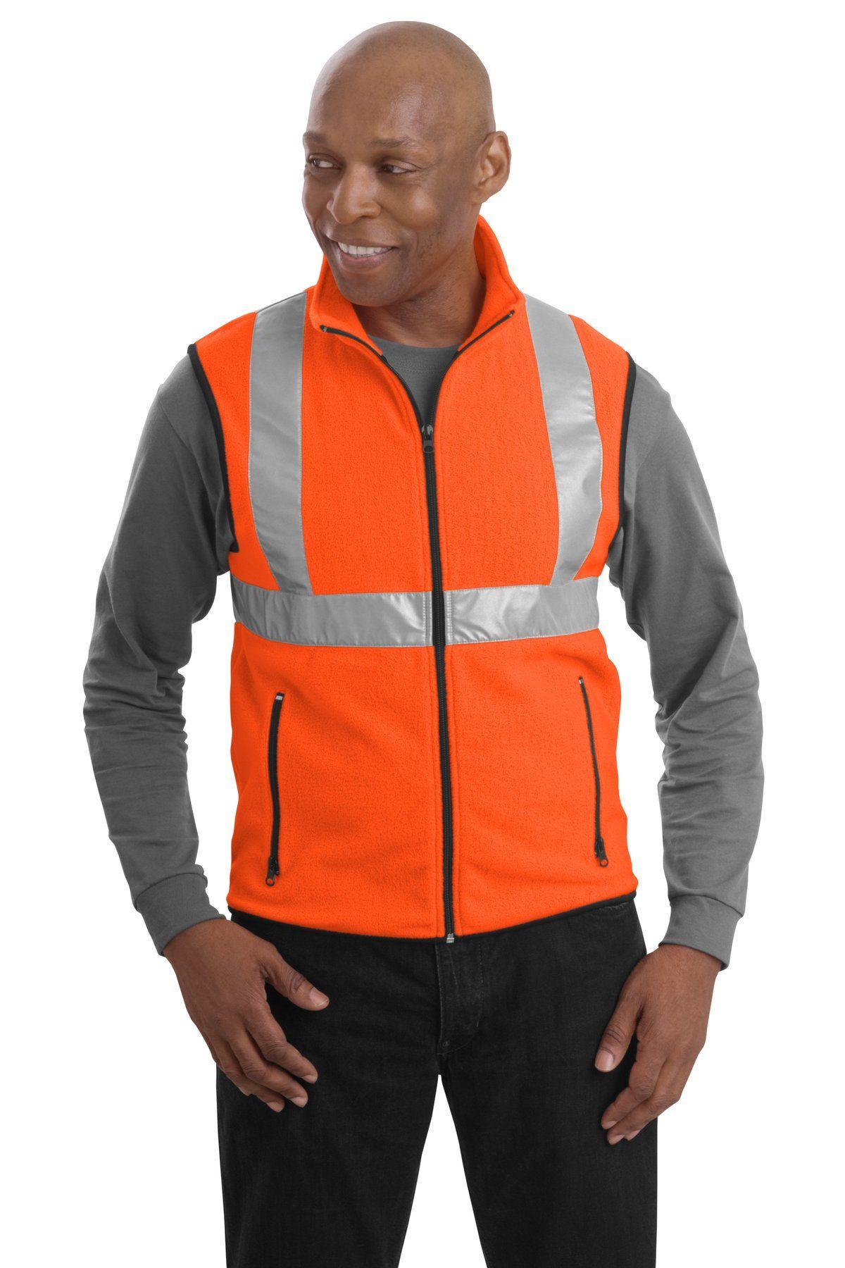 Fleece Fluorescent Reflective Vests. 9.98 on closeout
