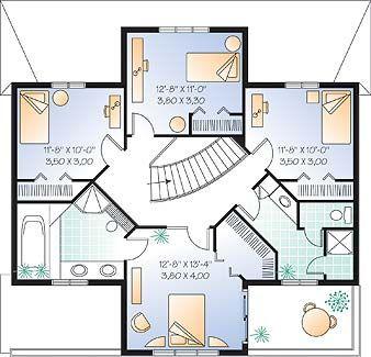 La Hacienda 2 House Plan   3266 Second Story