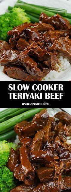 SLOW COOKER TERIYAKI BEEF  #recipes #slowcookerchicken SLOW COOKER TERIYAKI BEEF  #recipes #slowcookerrecipes