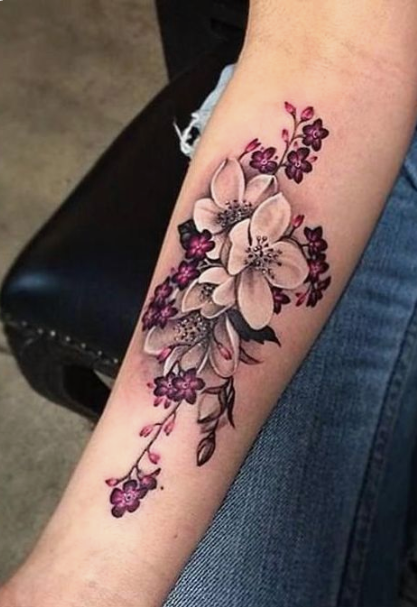 45 Elegant And Colorful Flower Tattoos For Females In Many Occasions The First Hand Fashion News For Females In 2020 Beautiful Tattoos For Women Tattoos For Women Flowers Colorful Flower Tattoo