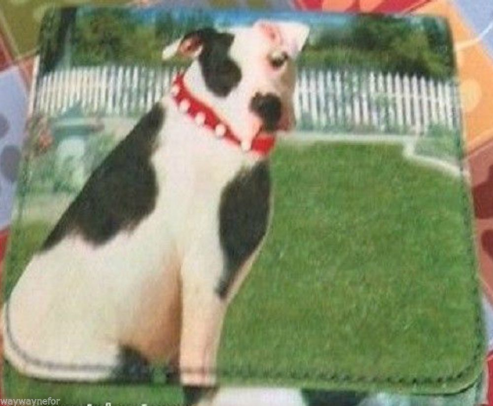 American Pit Bull Terrier Wallet Pete Little Rascals Dog Patch Eye Black White