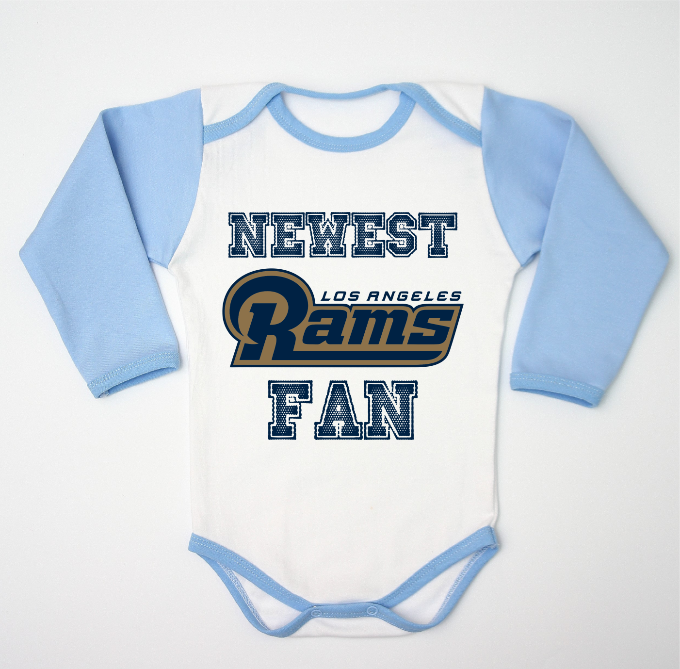 L.A. Rams Baby Bodysuit Blue – pepstyle. Find this Pin and more on Newest  Baby Fan Rompers by Custom ... 09904a5a4