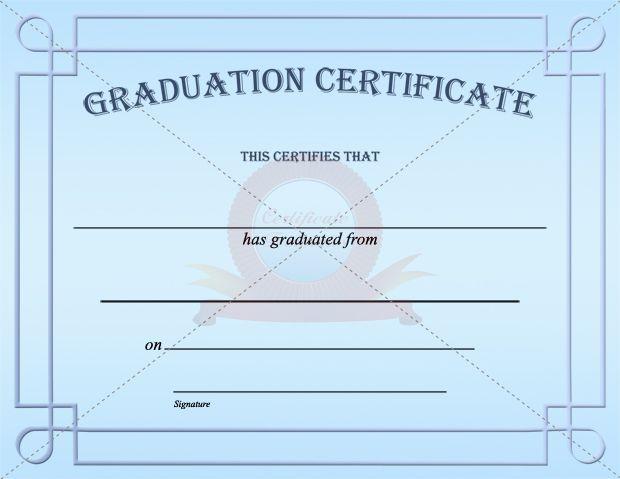 Graduation Certificate Template GRADUATION CERTIFICATE TEMPLATES - graduation certificate template