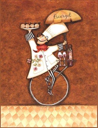 Escargot Chef... an acquired taste...