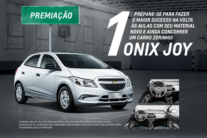 Escola De Campeoes Chevrolet Sorteia Onix 0km