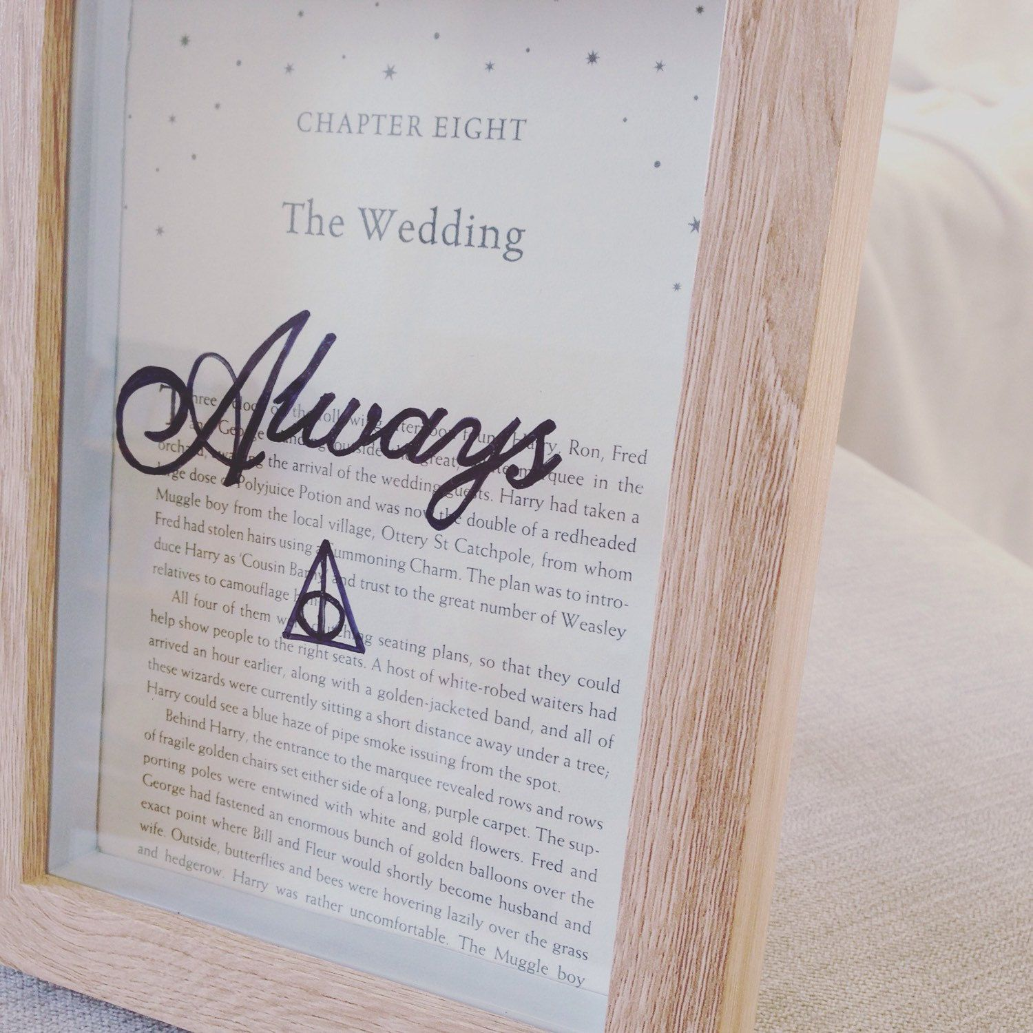 New to my etsy Harry Potter framed 'the Wedding' chapter