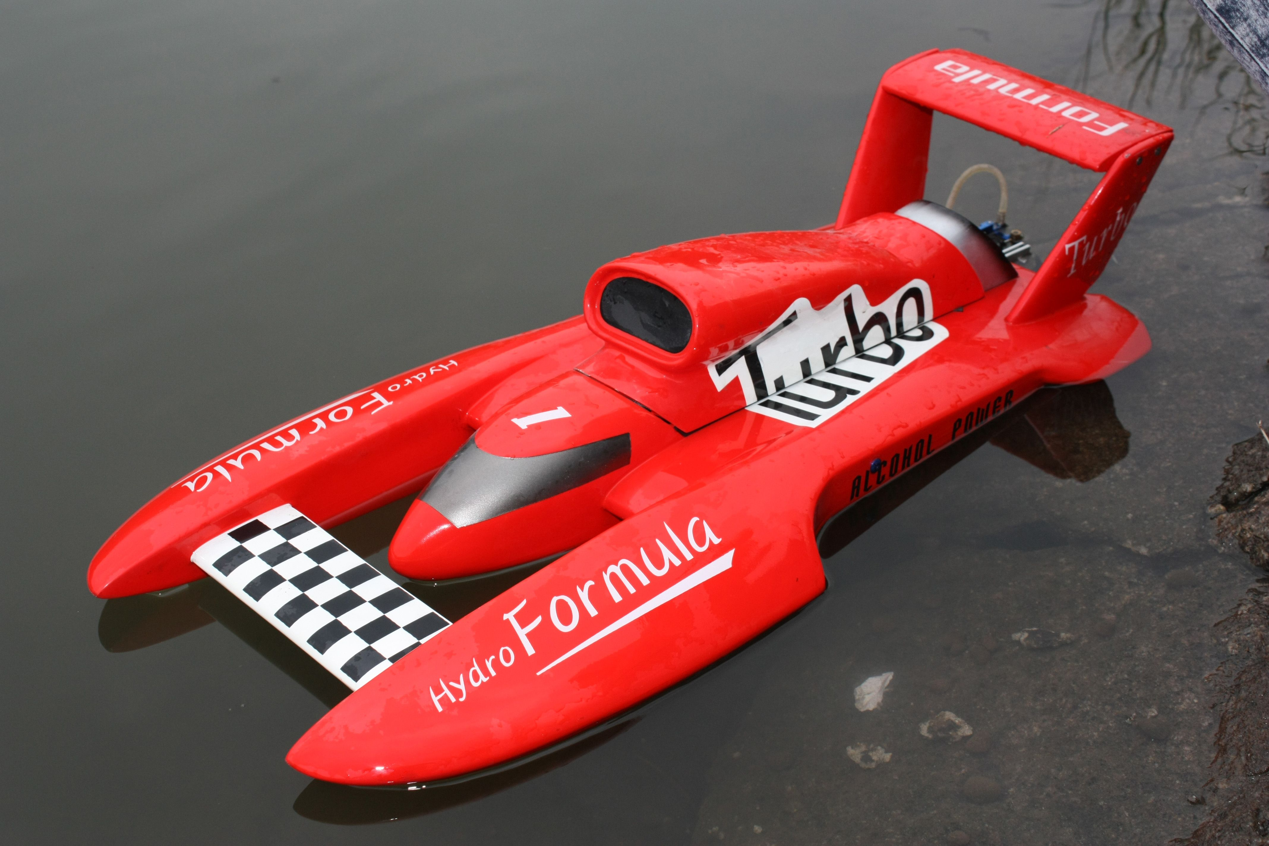 Hydro formula 700bp red 700mm brushless motor powered rc boat