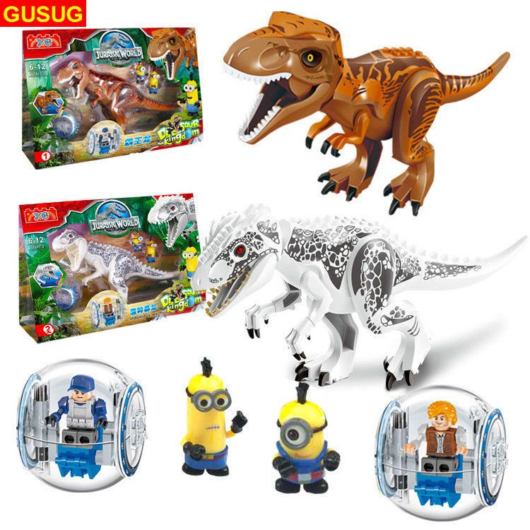 Dinosaur Rex Tyrannosaurus Jurassic World Park 8Pcs Minifigures Building LEGO