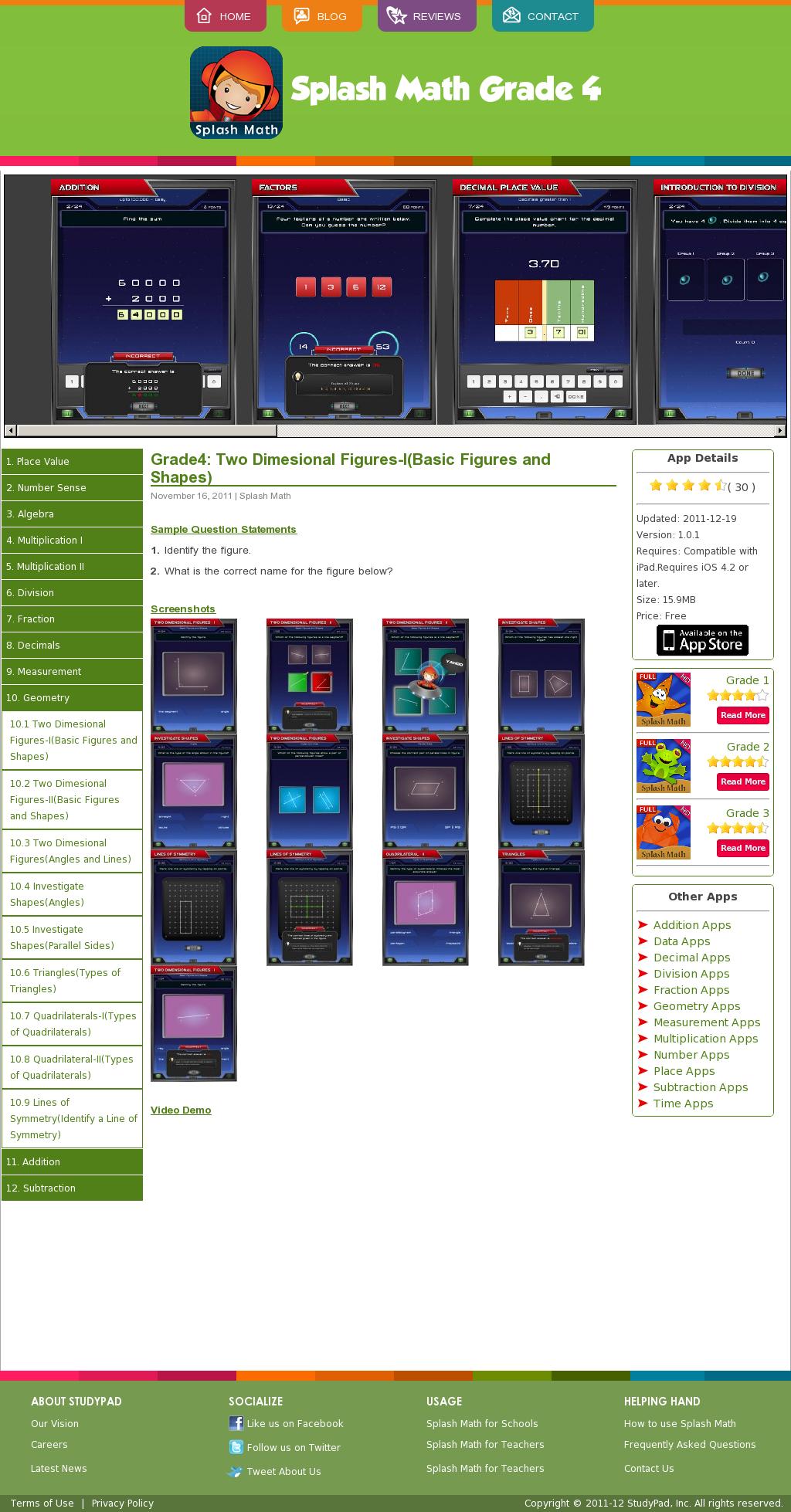 Studypadinc Com Fourth Grade Splash Math App Math Practice Games Math Math Practices [ 1958 x 1024 Pixel ]