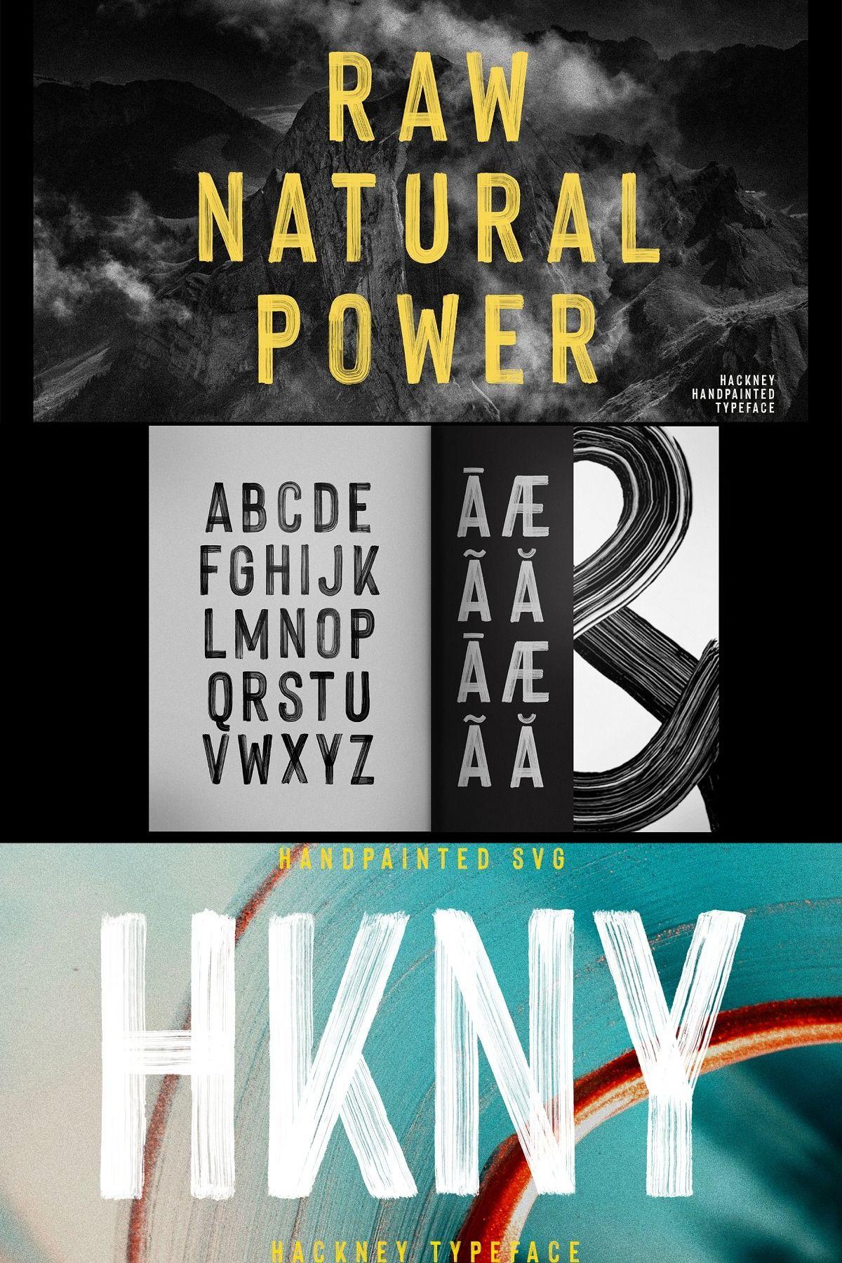 Hackney SVG Bold Handpainted Font in 2020 Lettering