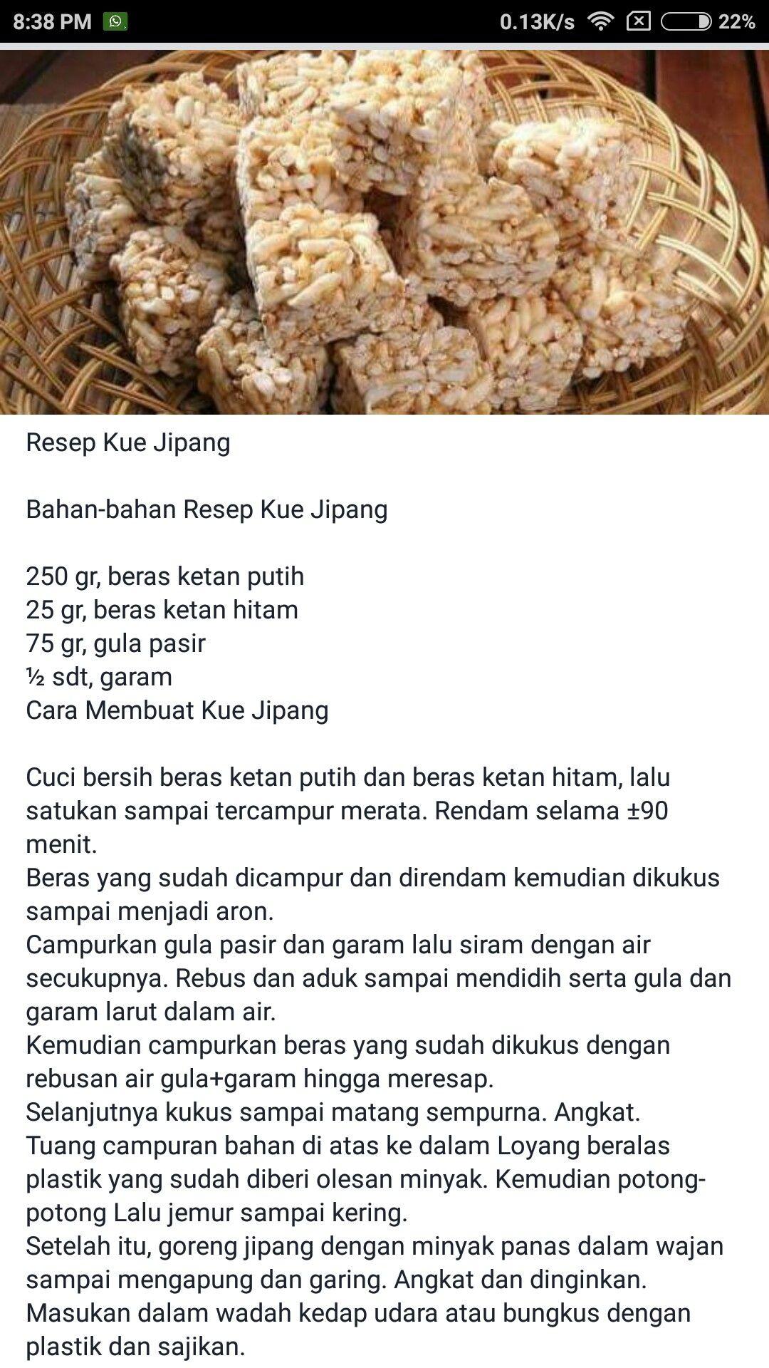Kue Jipang Makanan Dan Minuman Makanan Resep Makanan