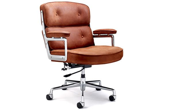 Eams Chair Brown leather office chair, Eames chair replica