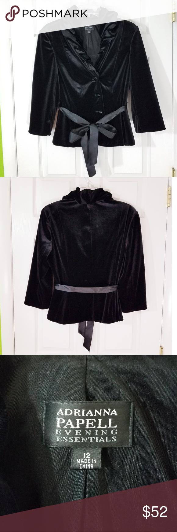 Adrianna Papell Velvet Jacket