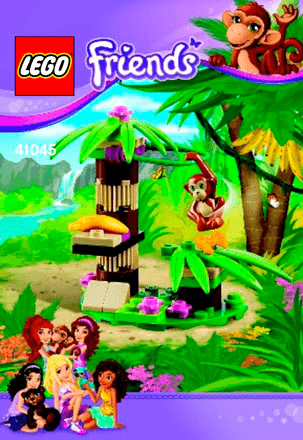 Orangutans Banana Tree 41045 Lego Friends Building Instructions