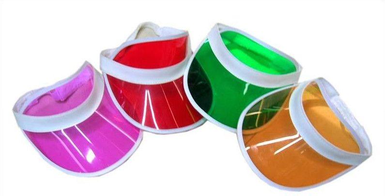 2015 sale new hats neon sun visors cap plastic visor summer hat pub golf  mix of colors fits all unisex leather Casual 869ca98350a