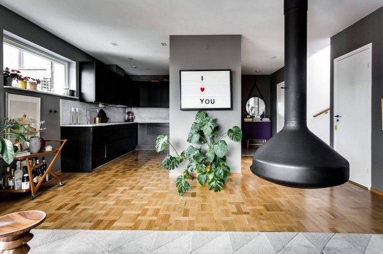 Mit Grau und Braun einrichten \u2013 Ein Penthouse mit Dachterrasse in