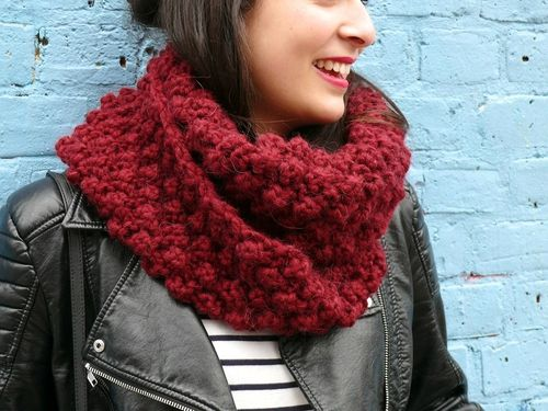 DIY: le snood Oxford - Bee made | Snood tricot | Pinterest