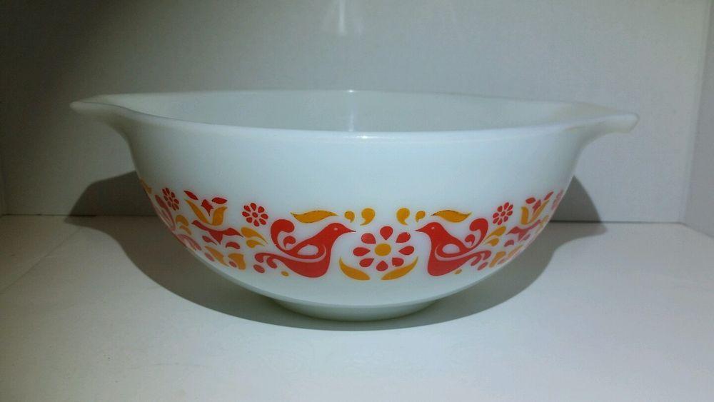 Vintage Pyrex Friendship Round Mixing Nesting Bowl 443 2.5 Quart Red ...