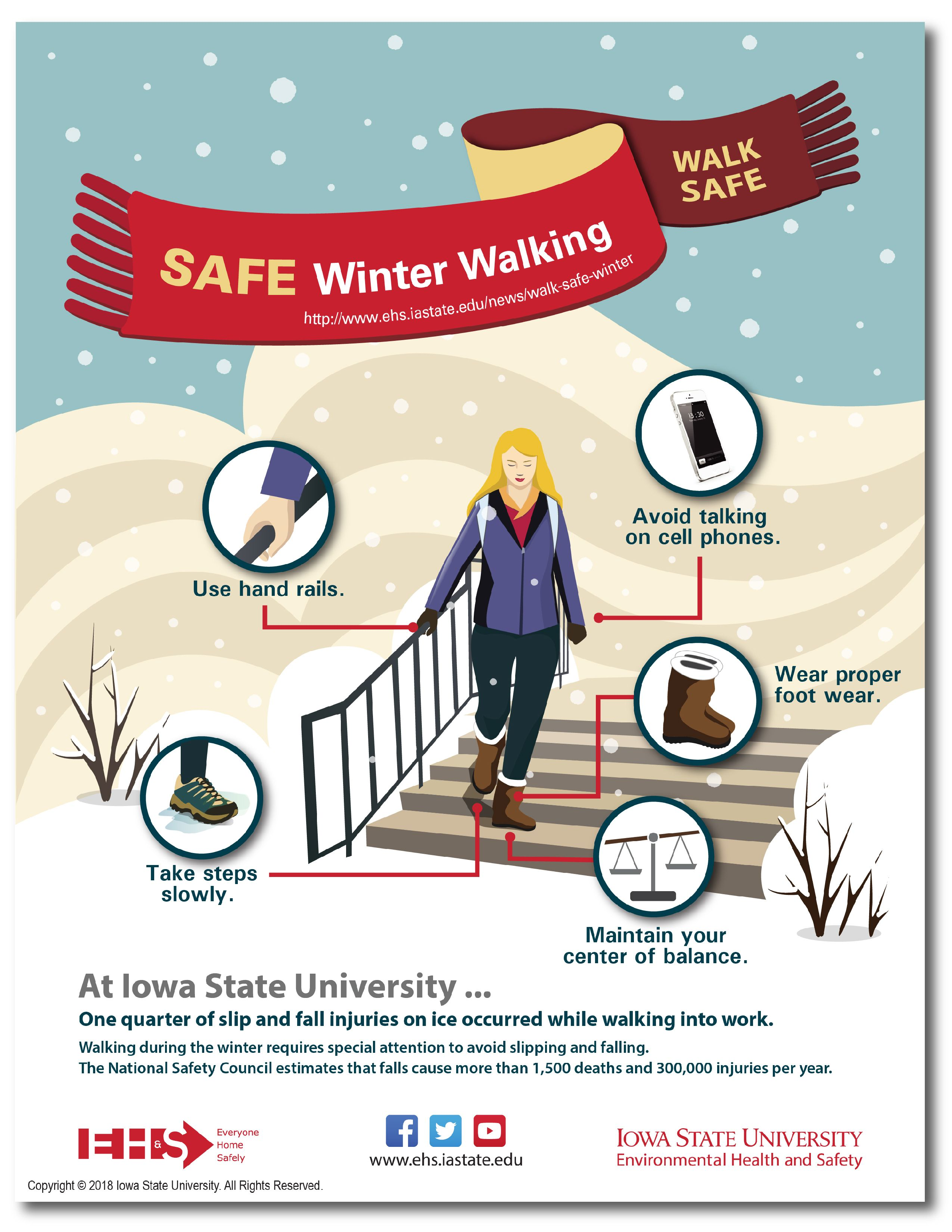 Helpful Hints When Walking on Snow or Ice Environmental