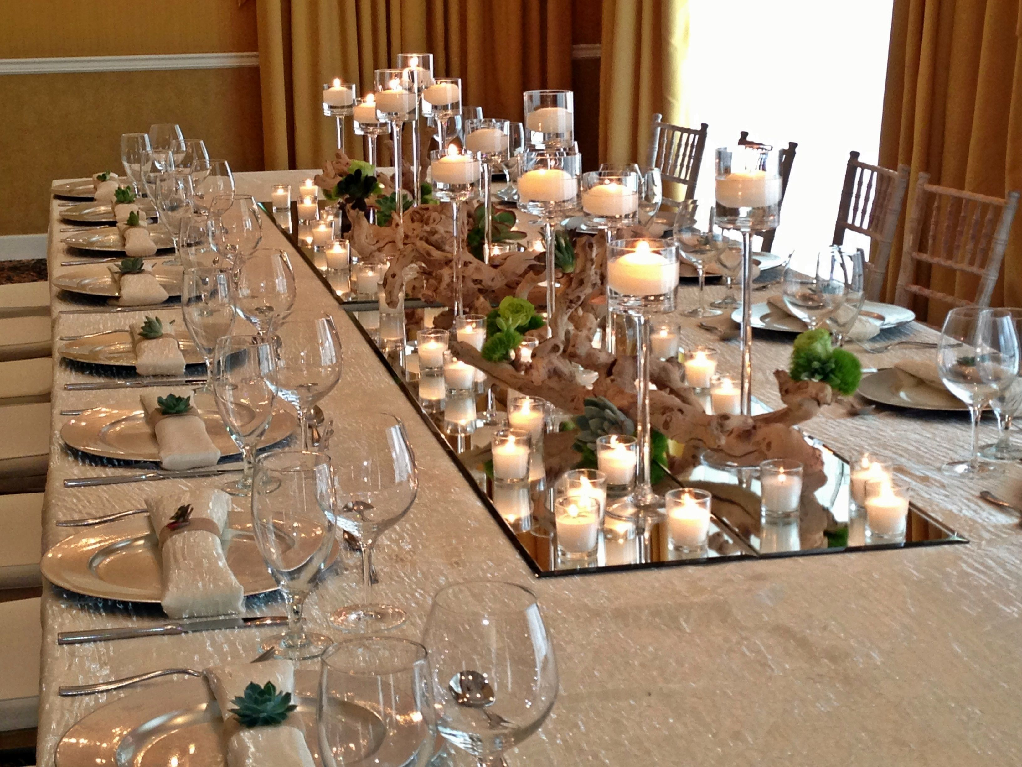 Centerpiece Without Flowers Could Be Another Option For Your Wedding Keep It Simple A Simple Wedding Centerpieces Wedding Table Decorations Fun Wedding Decor