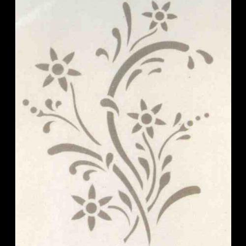 Decori Stencil Per Pareti.Stencil Edelwies Stencil Decorazione Per Pareti