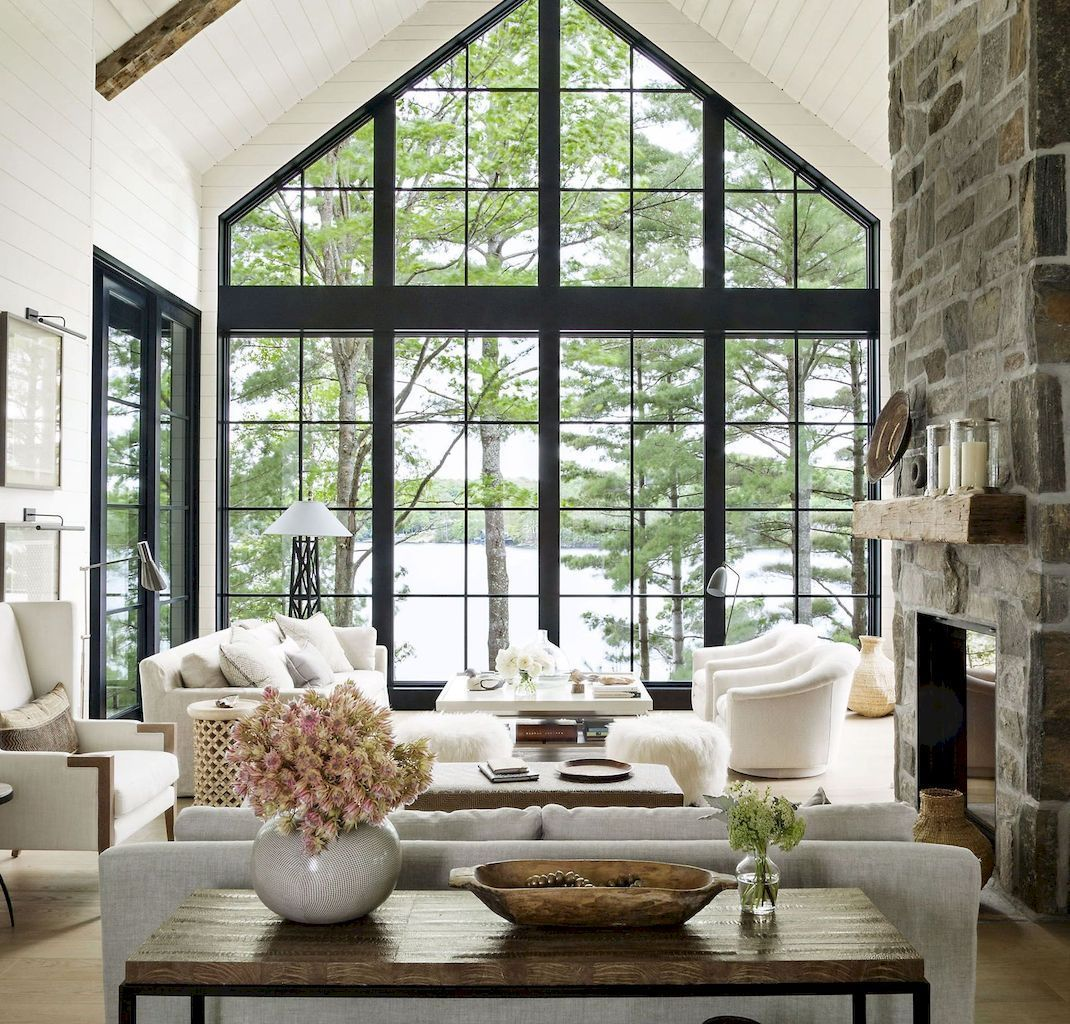 Rustic modern farmhouse living room decor ideas (19 images