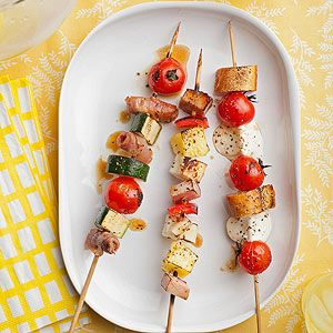 Customized Kabobs: Let your guests get creative with combinations by offering an array of kabob ingredients that all grill nicely together.