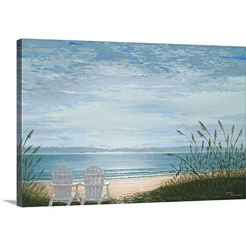 Sz Hd 5 Panel Beach Canvas Wall Art Of Blue Seascape Starfish And