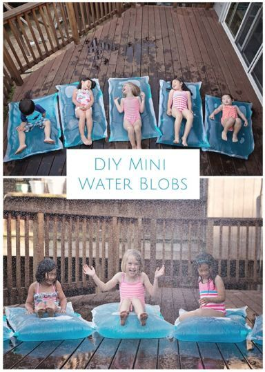how to make mini water blobs party ideas pinterest spiele mit wasser drau en spiele und spiel. Black Bedroom Furniture Sets. Home Design Ideas