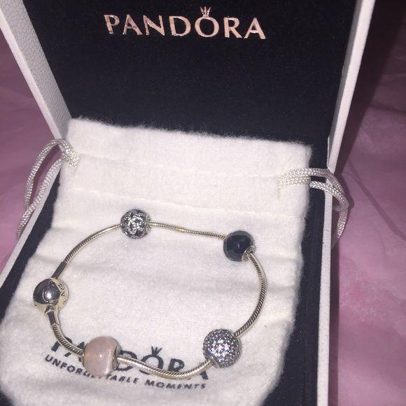 Pandora Essence Bracelet 6.5 Worn once for a few hours. Authentic Pandora  Bracelet With Generosity