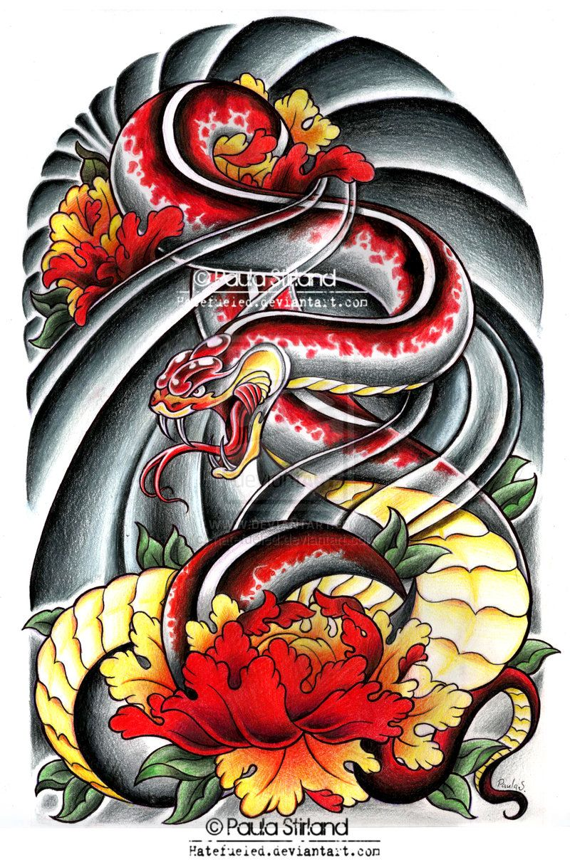 Asian Snake Peonies by on