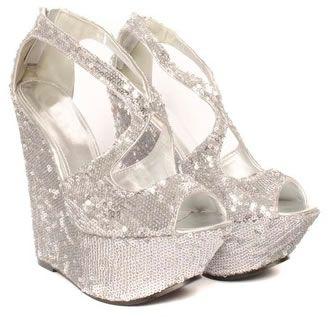 sitio de buena reputación c9f0b 63e89 zapatos de fiesta con plataformas plateados | zapatos en ...