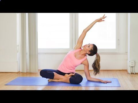 easy yoga workout  pilates workout video for beginners