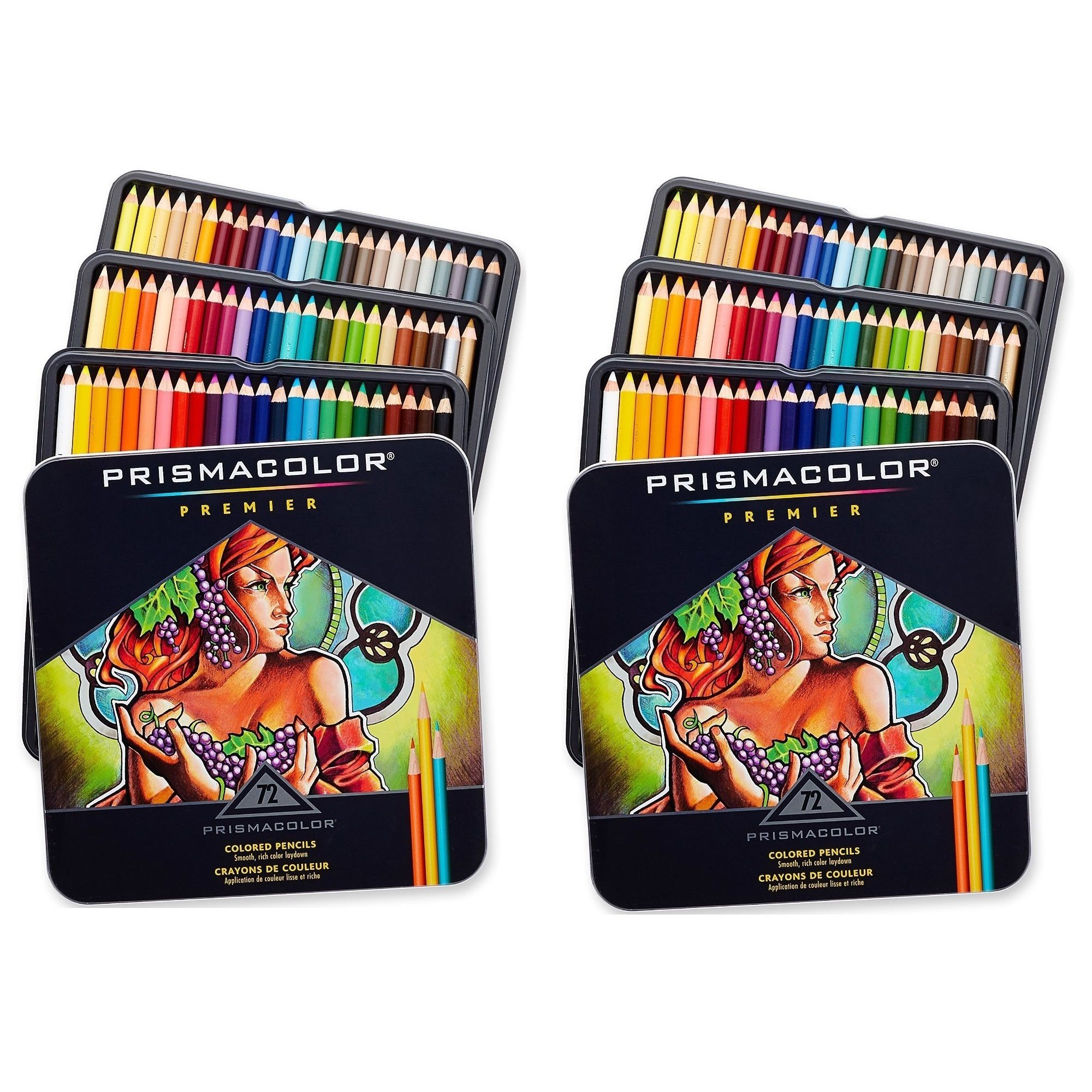 Prismacolor Premier Soft Core Colored Pencils 72 Assorted Colors