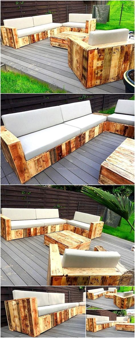 pallet outdoor garden furniture mike1 Pinterest Palés, Palets - muebles de jardin con tarimas